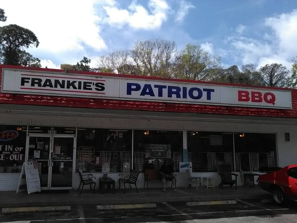 Frankies Patriot Barbecue   meal takeaway   6250 Ulmerton Rd, Clearwater, FL 33760, USA   7279354838 OR +1 727-935-4838