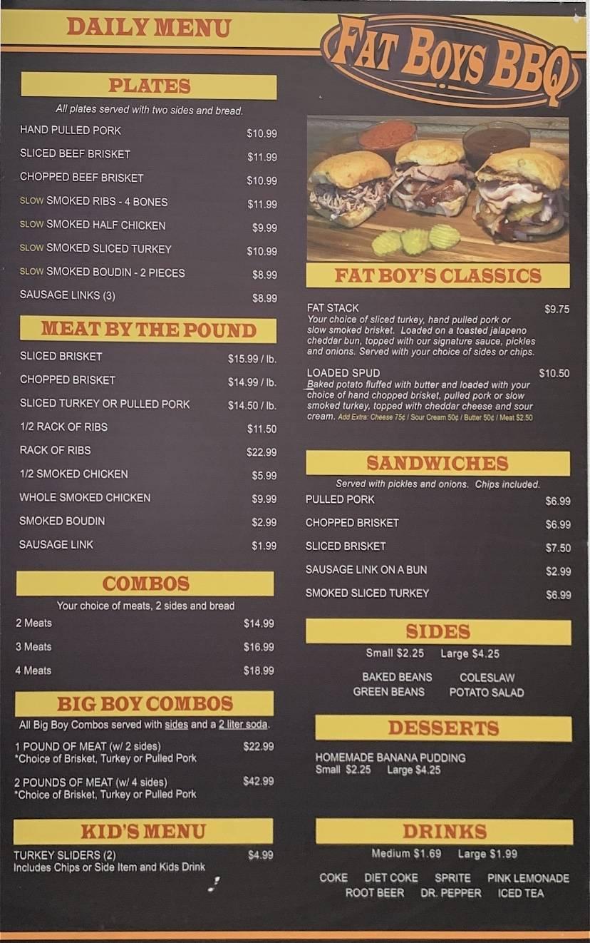 Fat Boys BBQ | restaurant | 2227 Texas Ave, Bridge City, TX 77611, USA | 4097920123 OR +1 409-792-0123