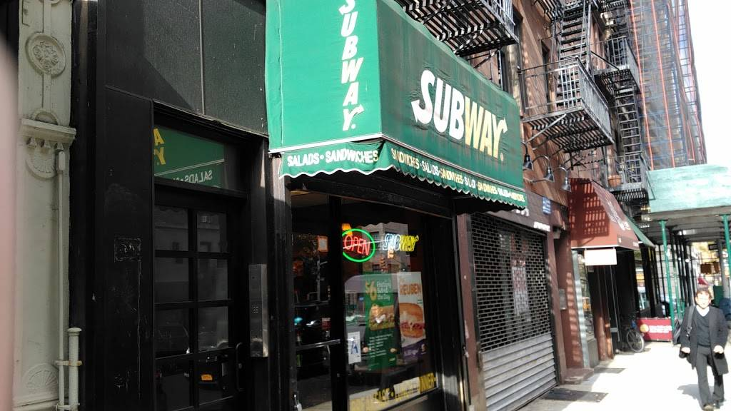 Subway Restaurants | restaurant | 1434 Lexington Ave, New York, NY 10128, USA | 2125347798 OR +1 212-534-7798