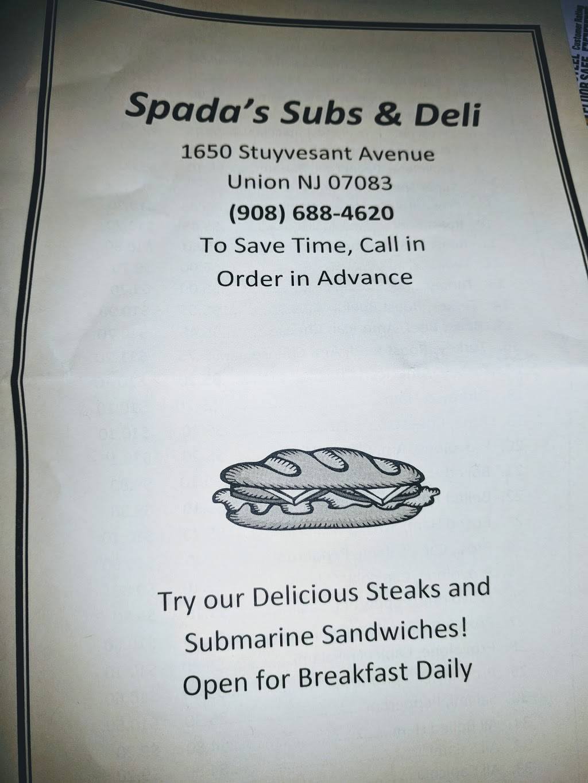 Spada Sub & Deli | meal takeaway | 1650 Stuyvesant Ave # A, Union, NJ 07083, USA | 9086884620 OR +1 908-688-4620