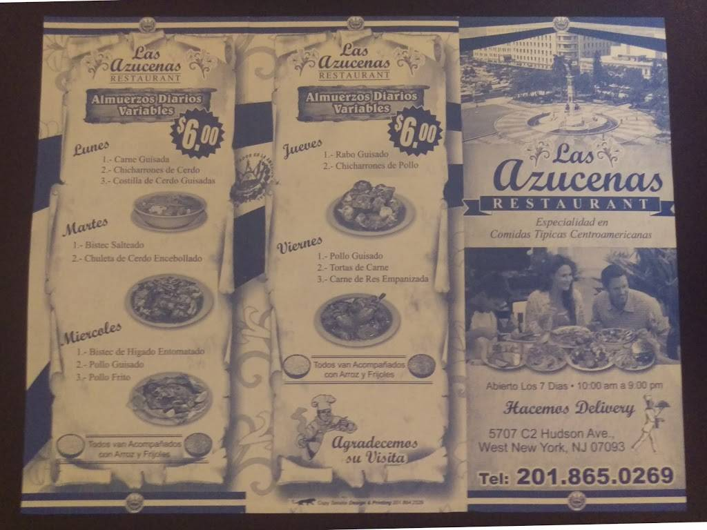 Las Azucenas Restaurant | restaurant | 5707 Hudson Ave, West New York, NJ 07093, USA | 2018650269 OR +1 201-865-0269