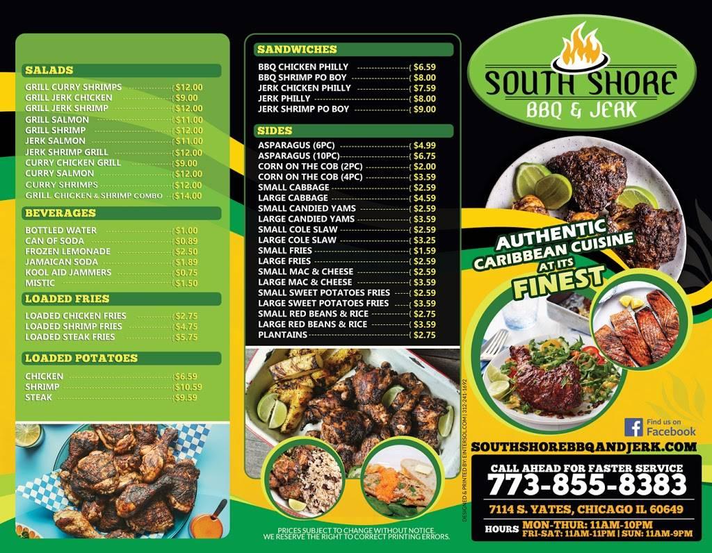 Southshore BBQ & Jerk | restaurant | 7114 S Yates Blvd, Chicago, IL 60649, USA | 7738558383 OR +1 773-855-8383