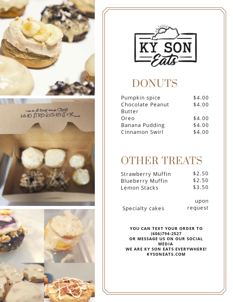 KY Son Eats   restaurant   1381 Stone Coal Rd, Pikeville, KY 41501, USA   6067942527 OR +1 606-794-2527