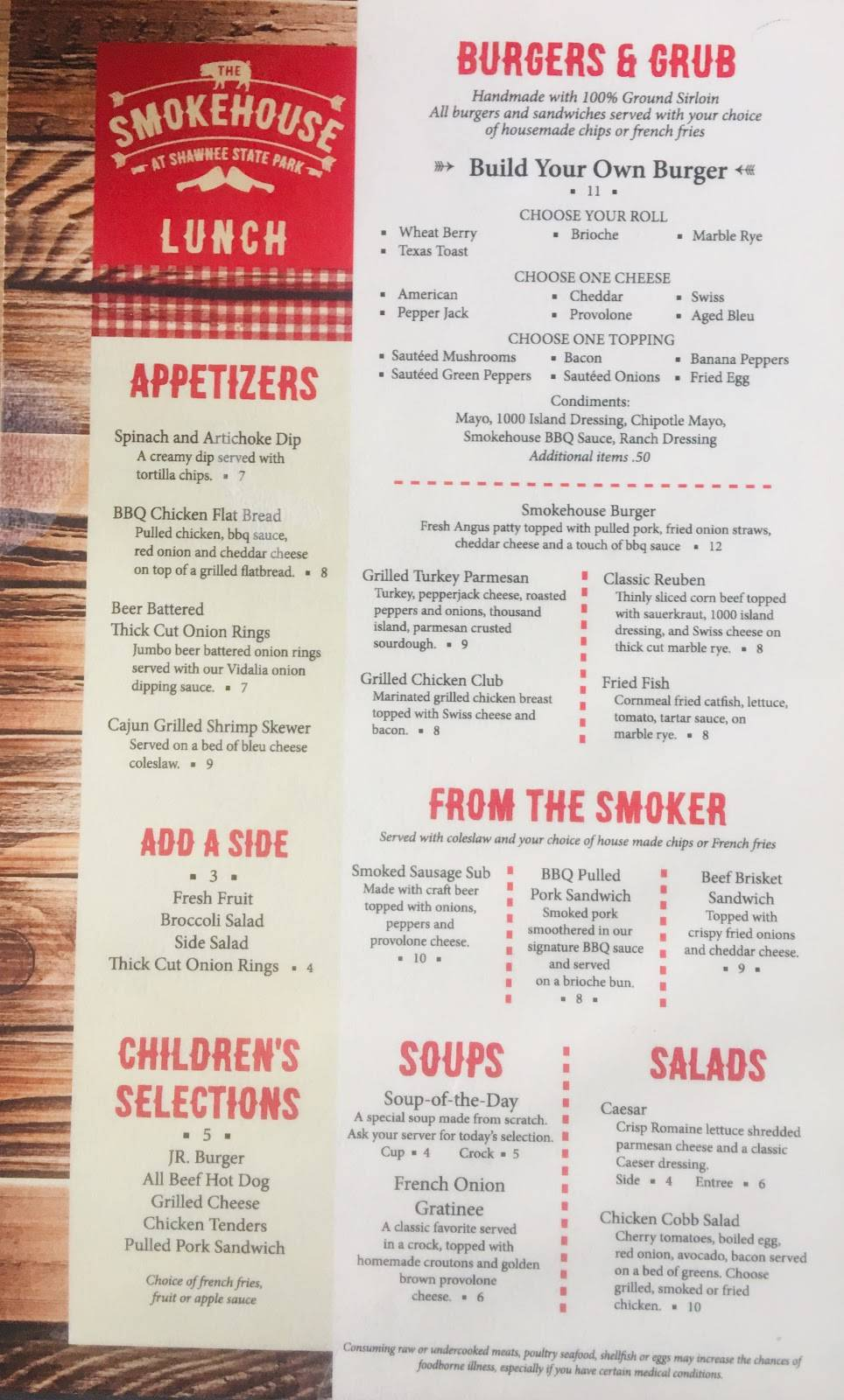 The Smokehouse at Shawnee Lodge | restaurant | 4404b OH-125, West Portsmouth, OH 45663, USA | 7408586621 OR +1 740-858-6621
