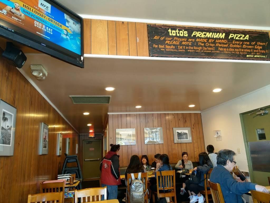 Totos Pizzeria & Restaurant | restaurant | 1690 El Camino Real, San Bruno, CA 94066, USA | 6508738686 OR +1 650-873-8686