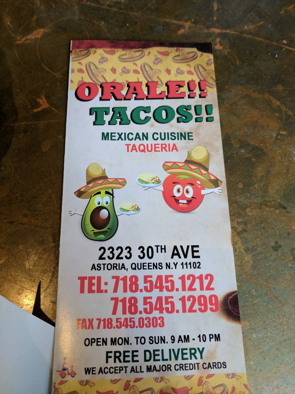 Orale!! Tacos!! | restaurant | 23-23 30th Ave, Long Island City, NY 11102, USA | 7185451212 OR +1 718-545-1212