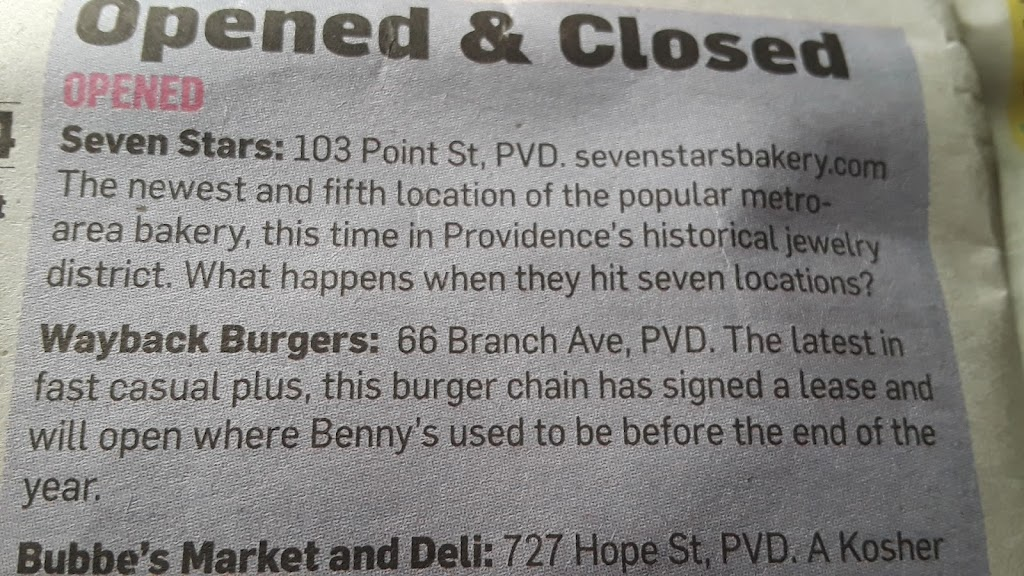 Wayback Burgers | restaurant | 66 Branch Ave, Providence, RI 02904, USA