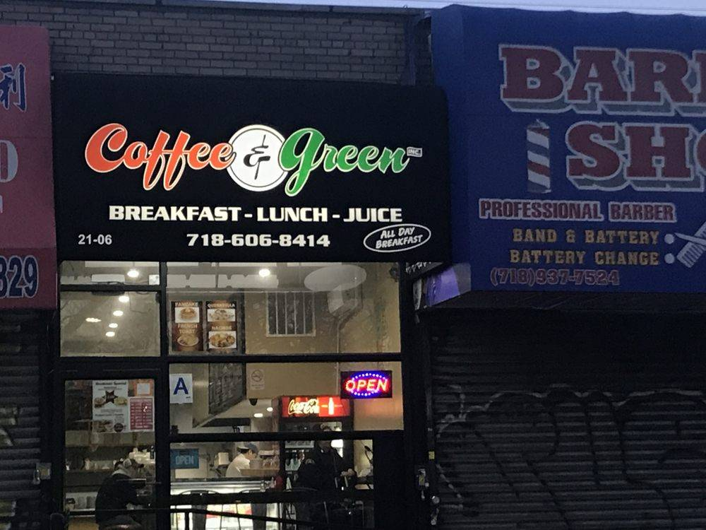 Coffee & Green | cafe | 2106 36th Ave, Astoria, NY 11106, USA | 7186068414 OR +1 718-606-8414