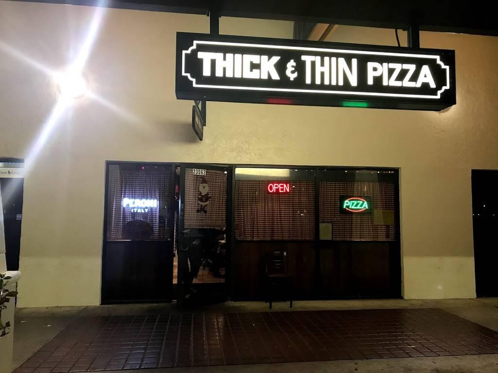 Thick & Thin Restaurant & Pizzeria | restaurant | 23062 Sandalfoot Plaza Dr, Boca Raton, FL 33428, USA | 5614827020 OR +1 561-482-7020