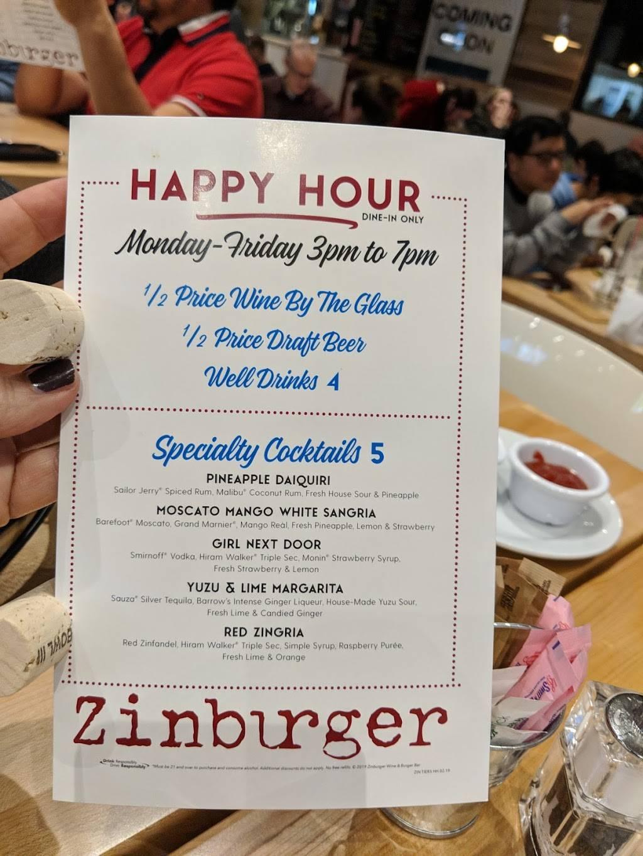 Zinburger Wine & Burger Bar | restaurant | 550 Somerset Corporate Blvd, Bridgewater, NJ 08807, USA | 9084507011 OR +1 908-450-7011