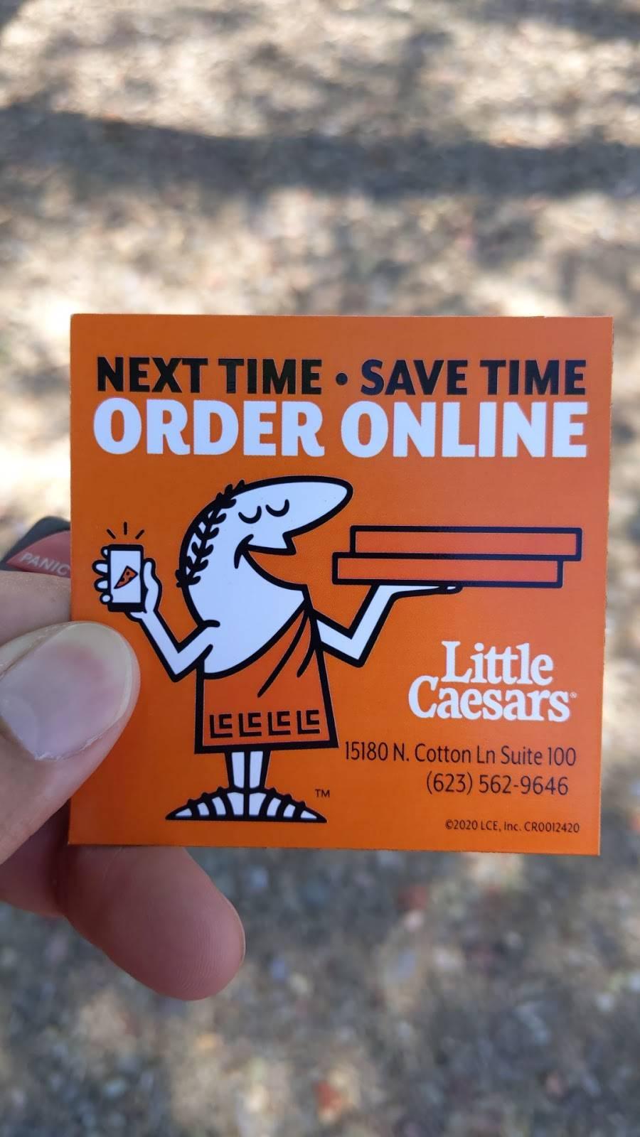 Little Caesars Pizza   restaurant   15180 N Cotton Ln suit #100, Surprise, AZ 85388, USA   6235629646 OR +1 623-562-9646