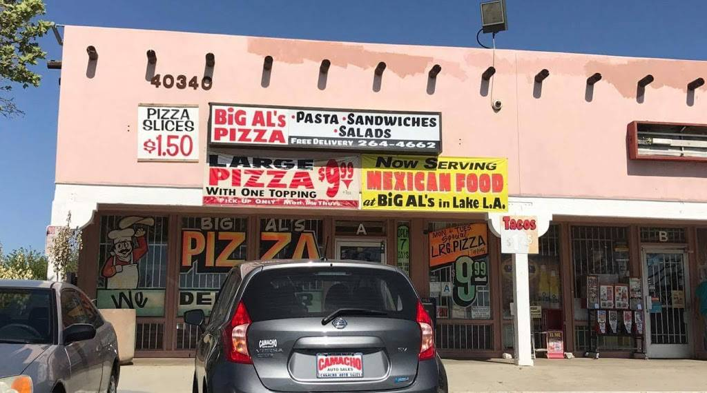 Big Als Pizza   meal delivery   40340 170th St E, Palmdale, CA 93591, USA   6612644662 OR +1 661-264-4662