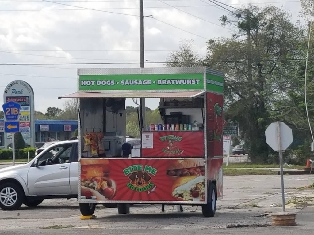 Bite Me Hot Dogs & More | meal takeaway | 1022 Blanding Blvd, Orange Park, FL 32065, USA | 9194752112 OR +1 919-475-2112
