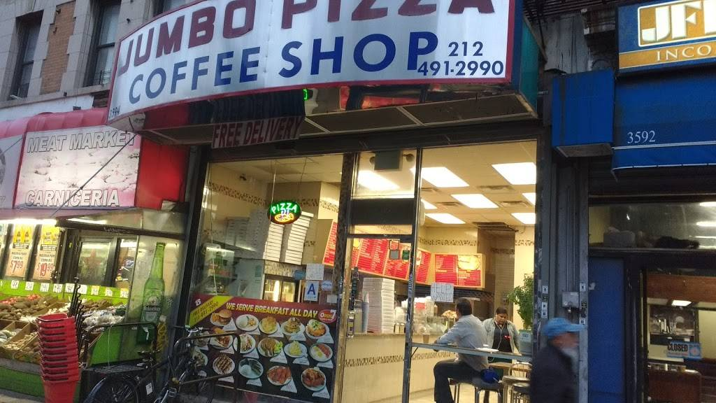 Jumbos Pizza Coffee Shop | cafe | 3594 Broadway, New York, NY 10031, USA | 2124912990 OR +1 212-491-2990