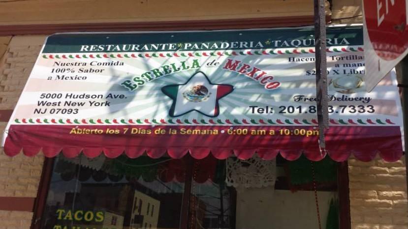 Estrella De Mexico Restaurant & Bakery | restaurant | 5000 Hudson Ave, West New York, NJ 07093, USA | 2018637333 OR +1 201-863-7333