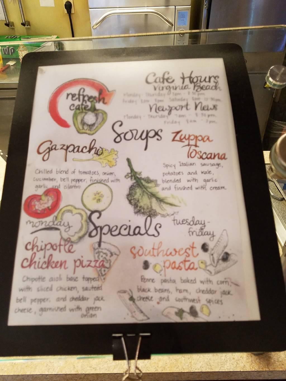 Refresh Cafe | restaurant | 5555 Greenwich Rd, Virginia Beach, VA 23462, USA | 7575173903 OR +1 757-517-3903