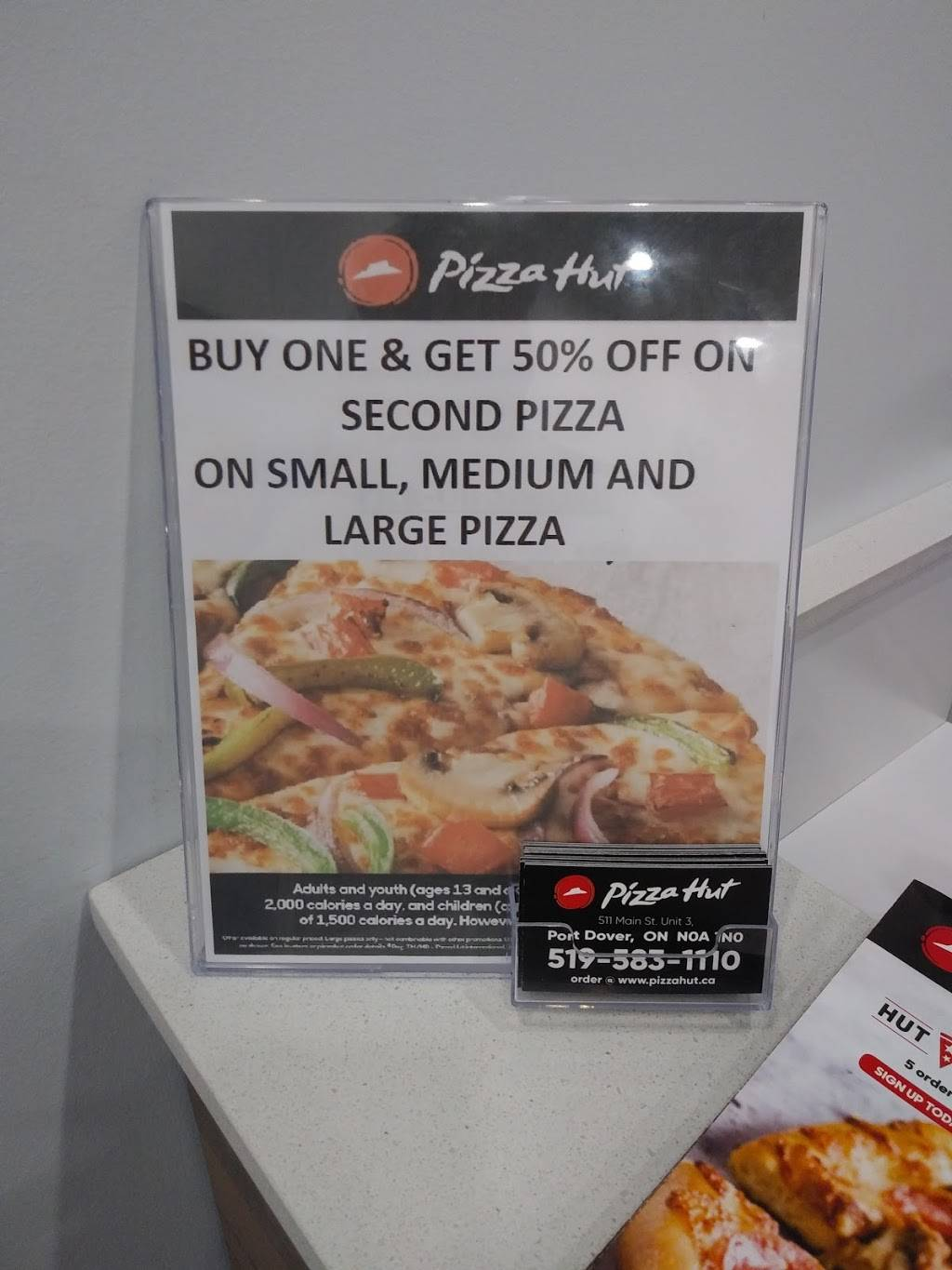 Pizza Hut | meal delivery | 511 Main St Unit 3, Port Dover, ON N0A 1N0, Canada | 5195831110 OR +1 519-583-1110