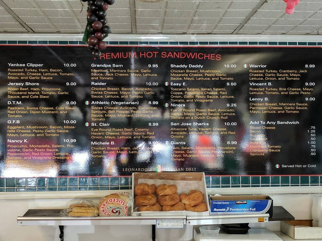 Leonardos Deli Cafe | restaurant | 540 Broadway, Millbrae, CA 94030, USA | 6506979779 OR +1 650-697-9779