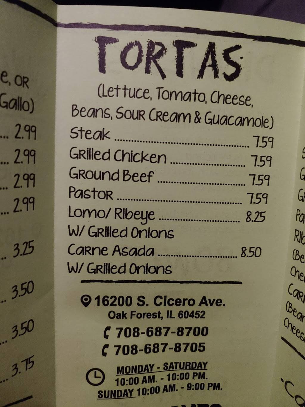 El patron | restaurant | 16200 S Cicero Ave, Oak Forest, IL 60452, USA | 7086878700 OR +1 708-687-8700