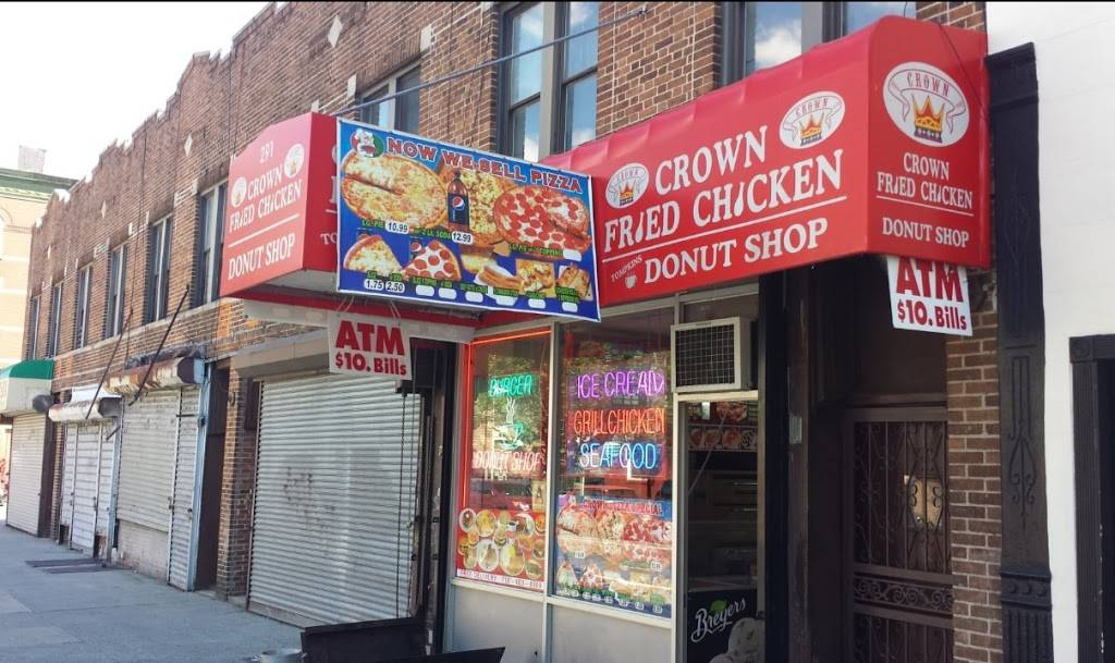 Crown Fried Chicken, Coffee Shop & Pizza   meal delivery   308 Tompkins Ave, Brooklyn, NY 11216, USA   7184838999 OR +1 718-483-8999