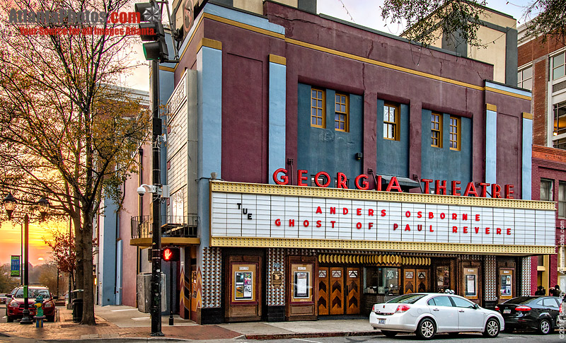 Georgia Theatre   restaurant   215 N Lumpkin St, Athens, GA 30601, USA   7068507670 OR +1 706-850-7670