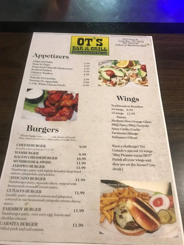 OT'S Bar & Grill   restaurant   1706 Main St, Green Bay, WI 54302, USA   9205449087 OR +1 920-544-9087