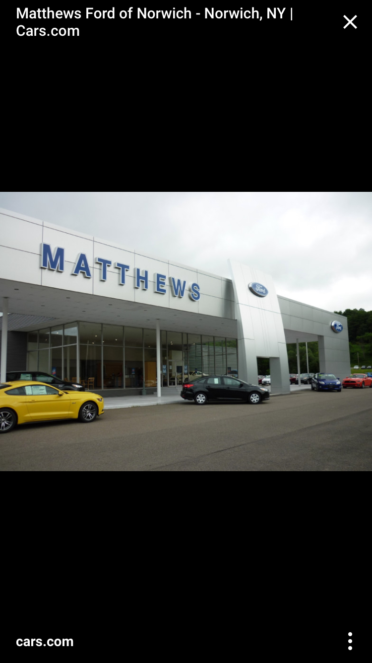 Matthews Ford   restaurant   175 E Main St, Norwich, NY 13815, USA   6073343273 OR +1 607-334-3273