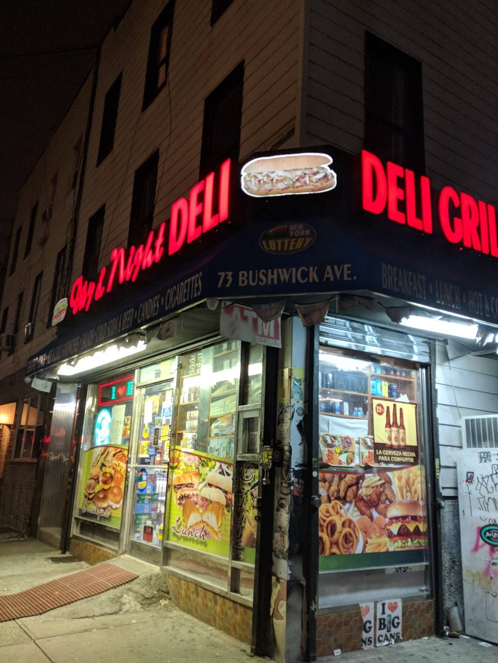 Day and Night Deli Grill   restaurant   73 Bushwick Ave, Brooklyn, NY 11211, USA   7184863800 OR +1 718-486-3800