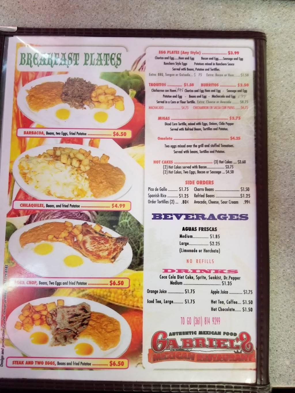 Gabriels Mexican Restaurant | restaurant | 3825 S Port Ave, Corpus Christi, TX 78415, USA | 3618149299 OR +1 361-814-9299