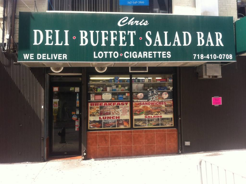 Chris Super Deli Inc | meal takeaway | 903 Sheridan Ave, Bronx, NY 10451, USA | 7184100708 OR +1 718-410-0708
