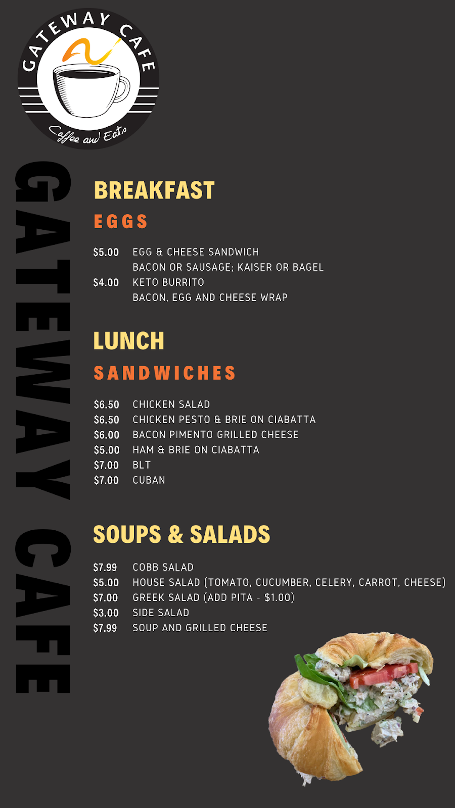 Gateway Cafe | bakery | 220 W Garden St Suite 130, Pensacola, FL 32502, USA | 8508578600 OR +1 850-857-8600
