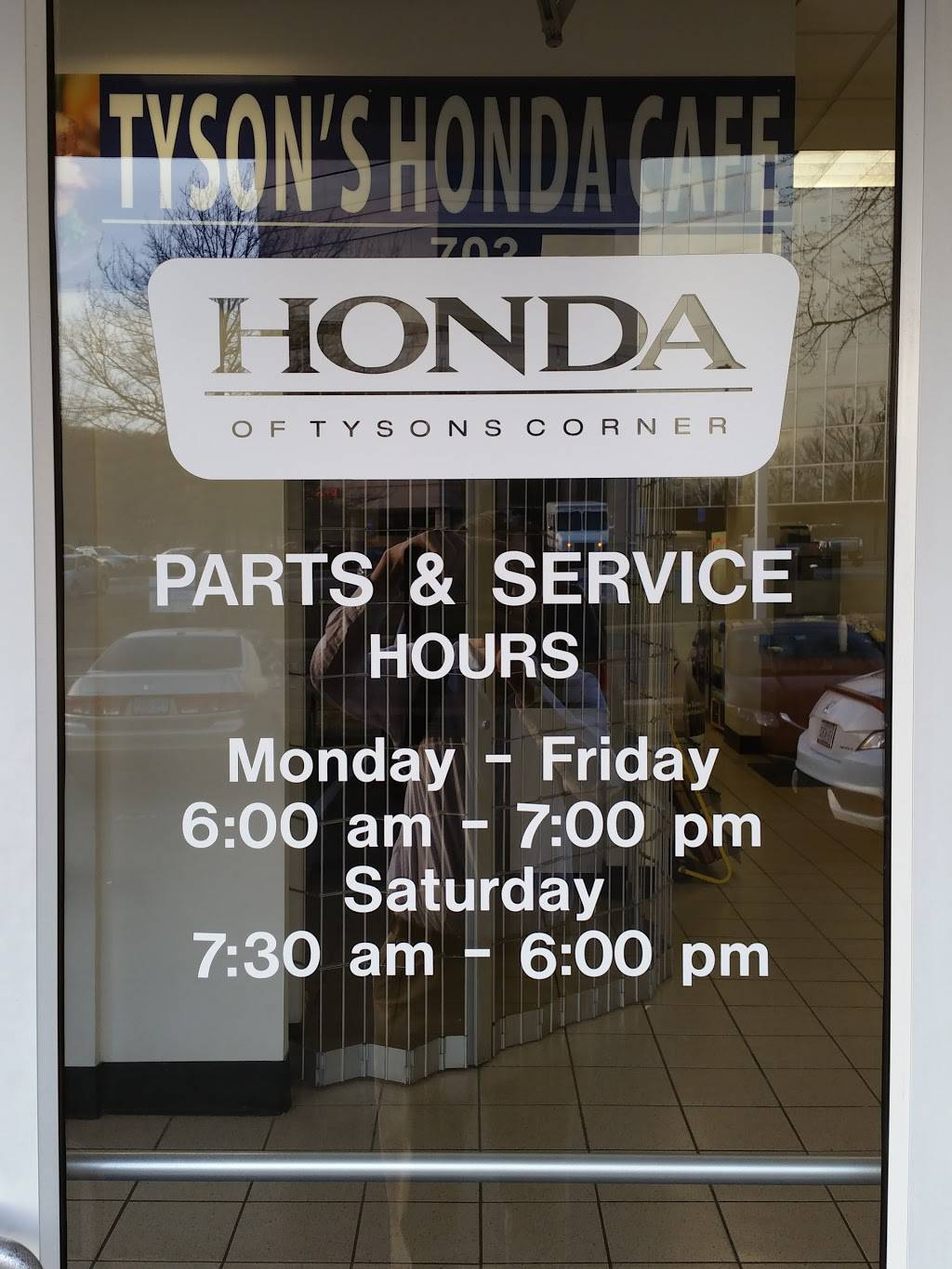 Tysons Honda Cafe | restaurant | 1580 Spring Hill Rd, Vienna, VA 22182, USA | 7038932574 OR +1 703-893-2574