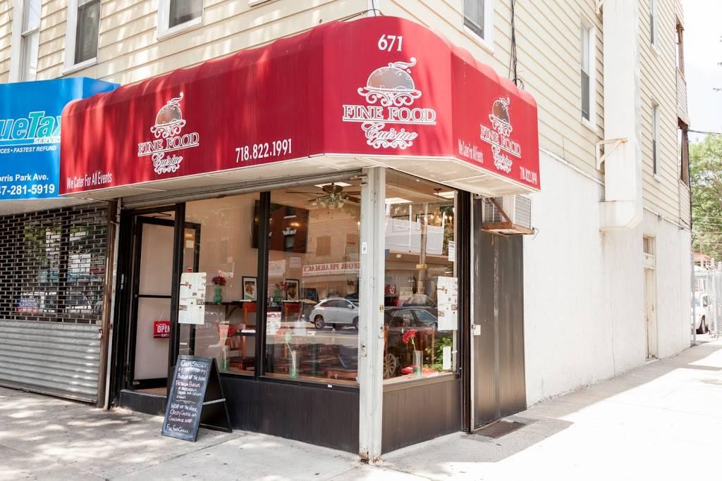Fine Food Cuisine   restaurant   671 Morris Park Ave, Bronx, NY 10462, USA   7188221991 OR +1 718-822-1991