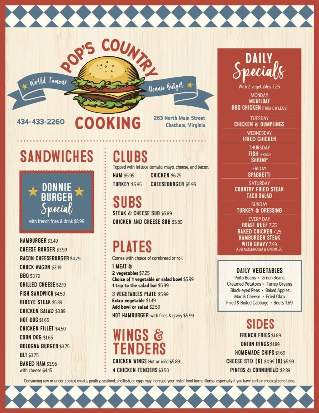 Pop S Country Cooking Restaurant 263 S Main St Chatham Va 24531 Usa