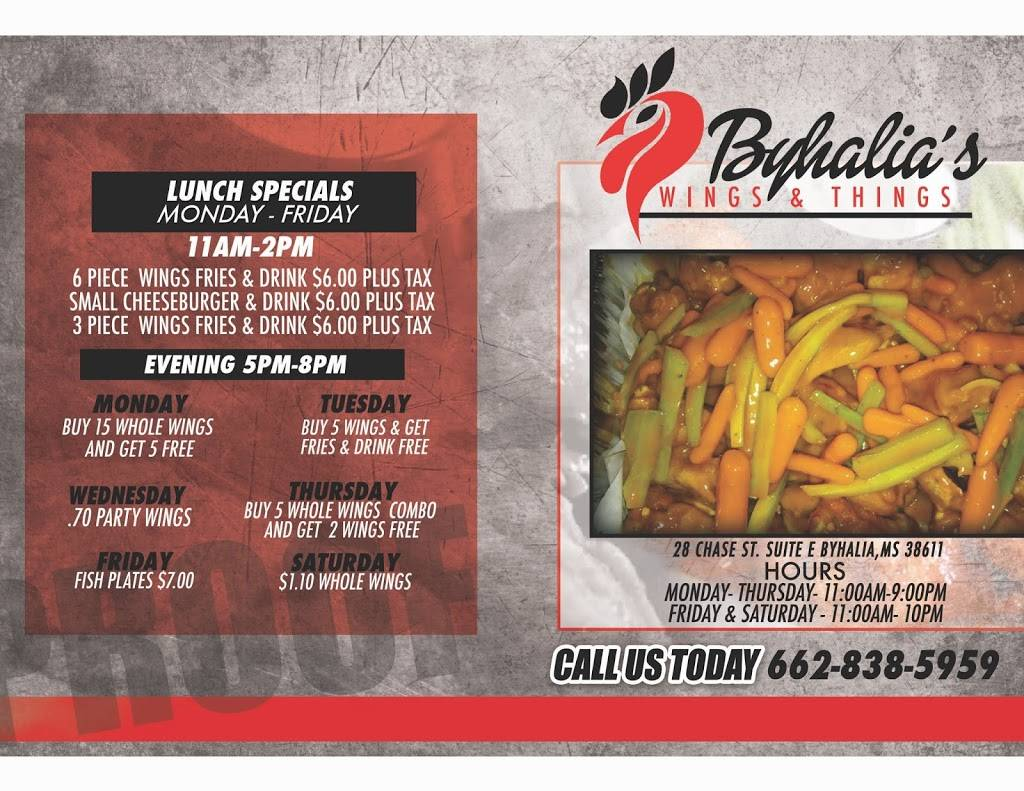 Byhalia Wings N Things | restaurant | 28 Chase St, Byhalia, MS 38611, USA | 6628385959 OR +1 662-838-5959