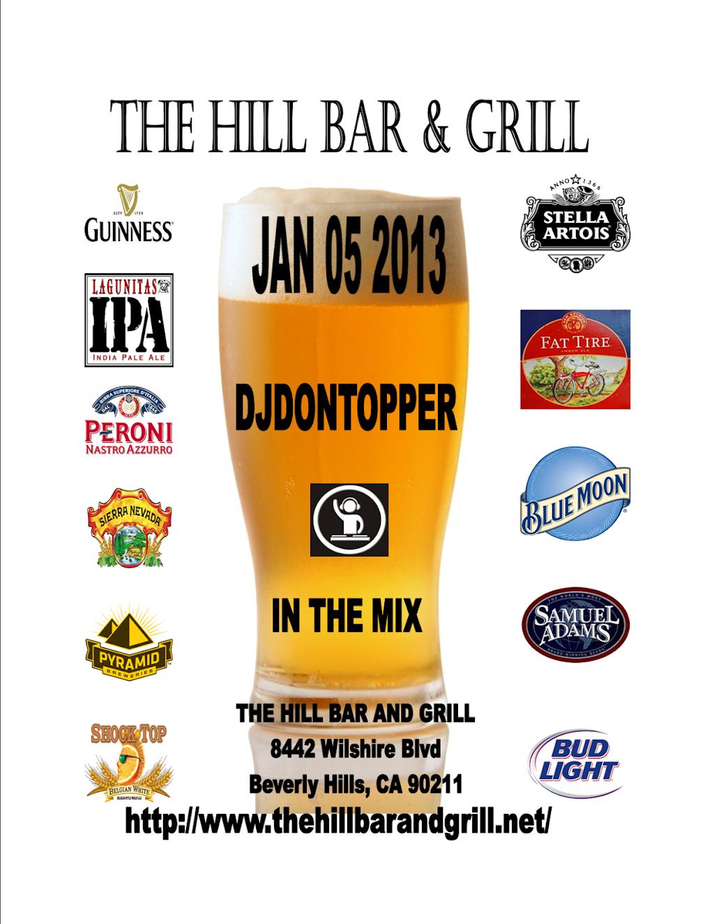 Hill Bar & Grill | restaurant | 8442 Wilshire Blvd, Beverly Hills, CA 90211, USA | 3239511112 OR +1 323-951-1112