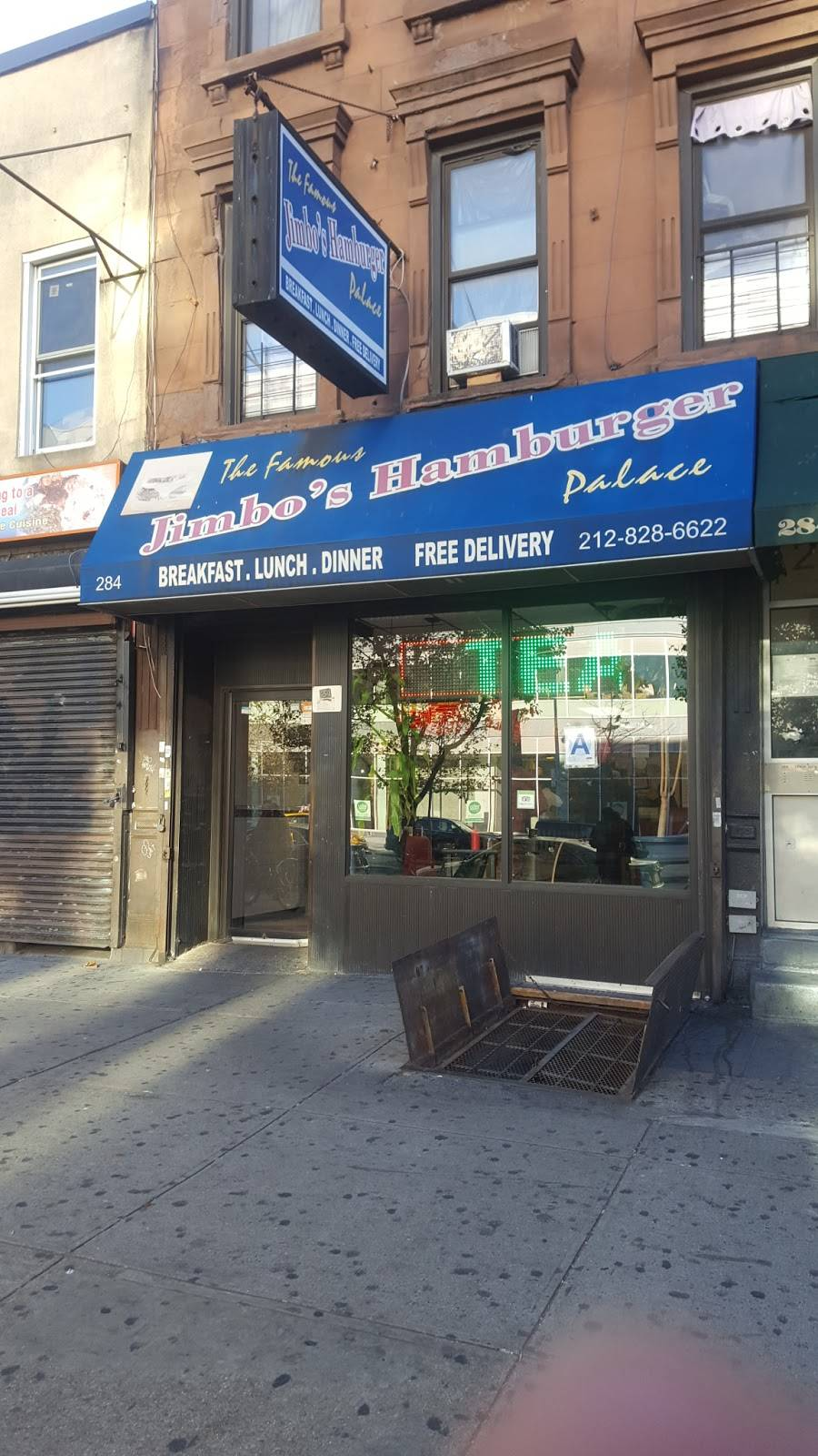 Jimbos Hamburger Palace | restaurant | 284 Malcolm X Blvd, New York, NY 10027, USA | 2128286622 OR +1 212-828-6622