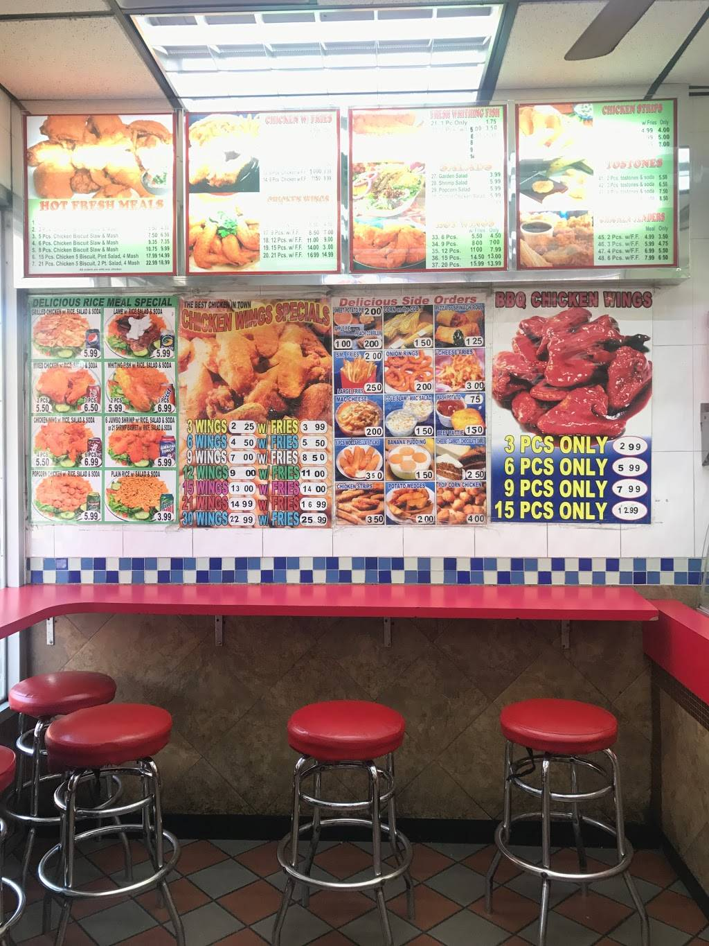 Crown Fried Chicken   meal takeaway   2021 Amsterdam Ave, New York, NY 10032, USA   2127407410 OR +1 212-740-7410