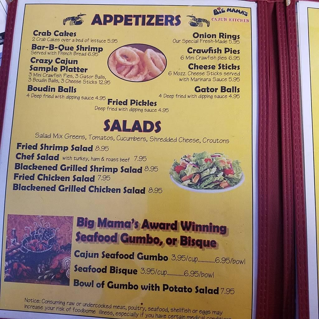 Big Mamas Cajun Kitchen | restaurant | 131 Sandy Smith Rd, Poplarville, MS 39470, USA | 6017950317 OR +1 601-795-0317