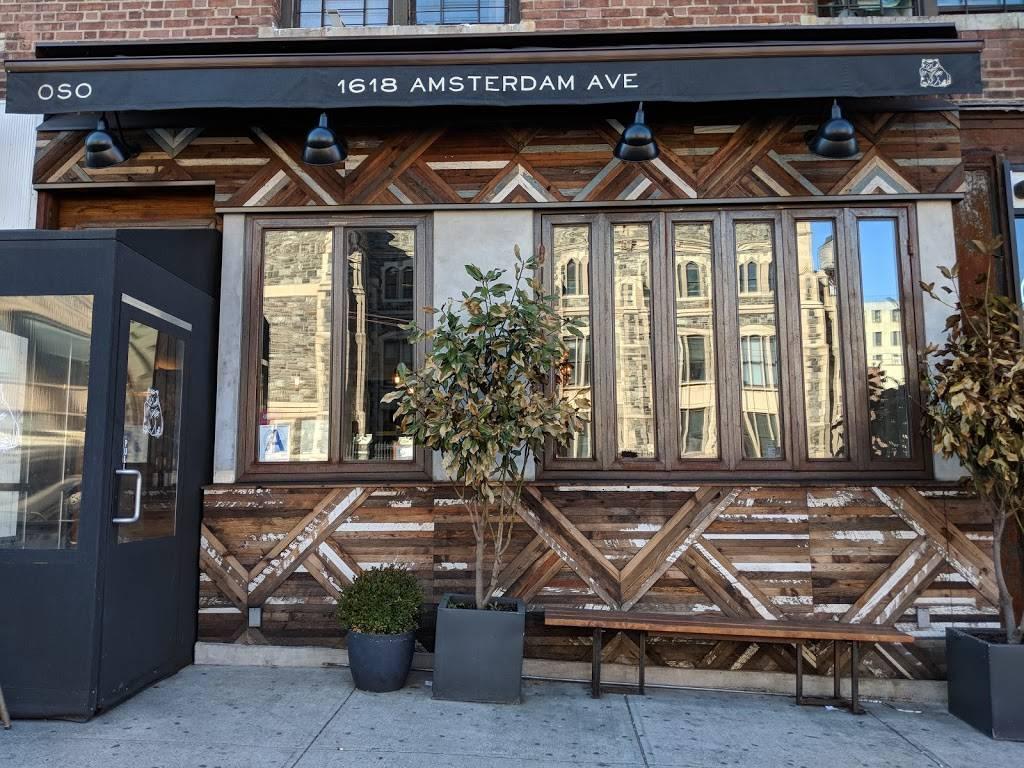 Oso | restaurant | 1618 Amsterdam Ave, New York, NY 10031, USA | 6468583139 OR +1 646-858-3139
