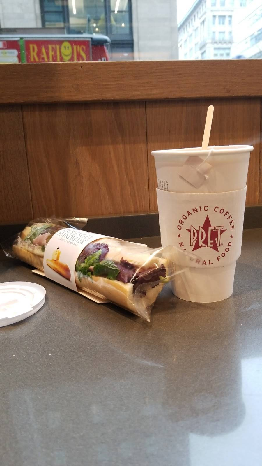 Pret A Manger | meal takeaway | 350 Hudson St, New York, NY 10014, USA | 2128470421 OR +1 212-847-0421