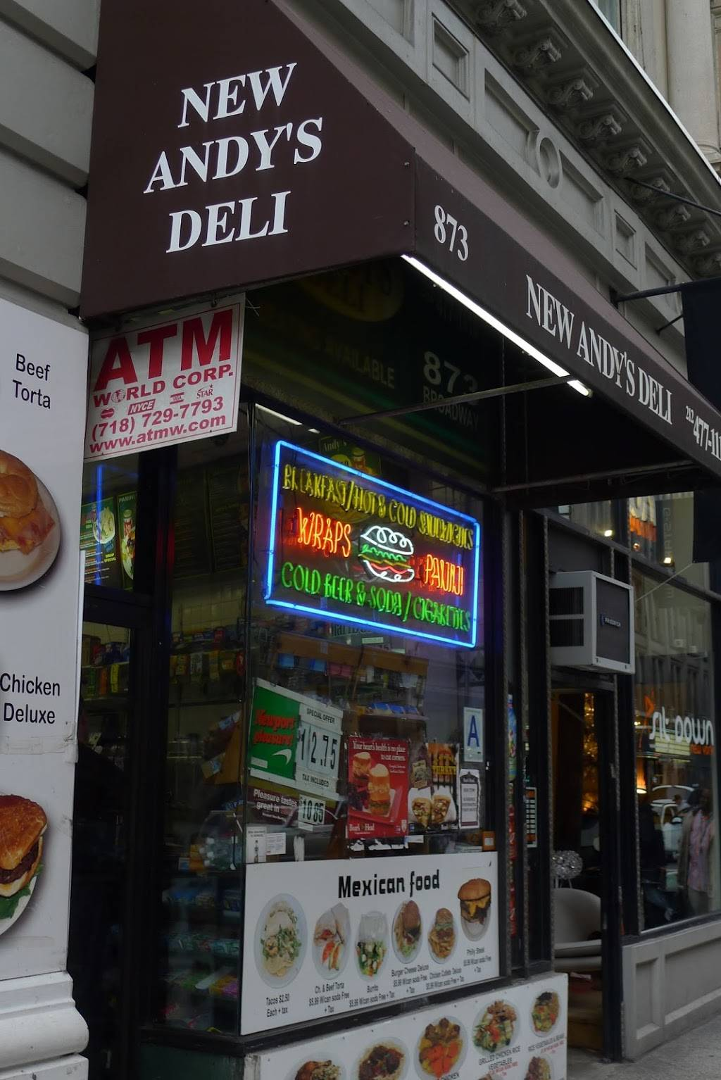 Andys Deli | meal takeaway | 873 Broadway, New York, NY 10003, USA | 2124771110 OR +1 212-477-1110