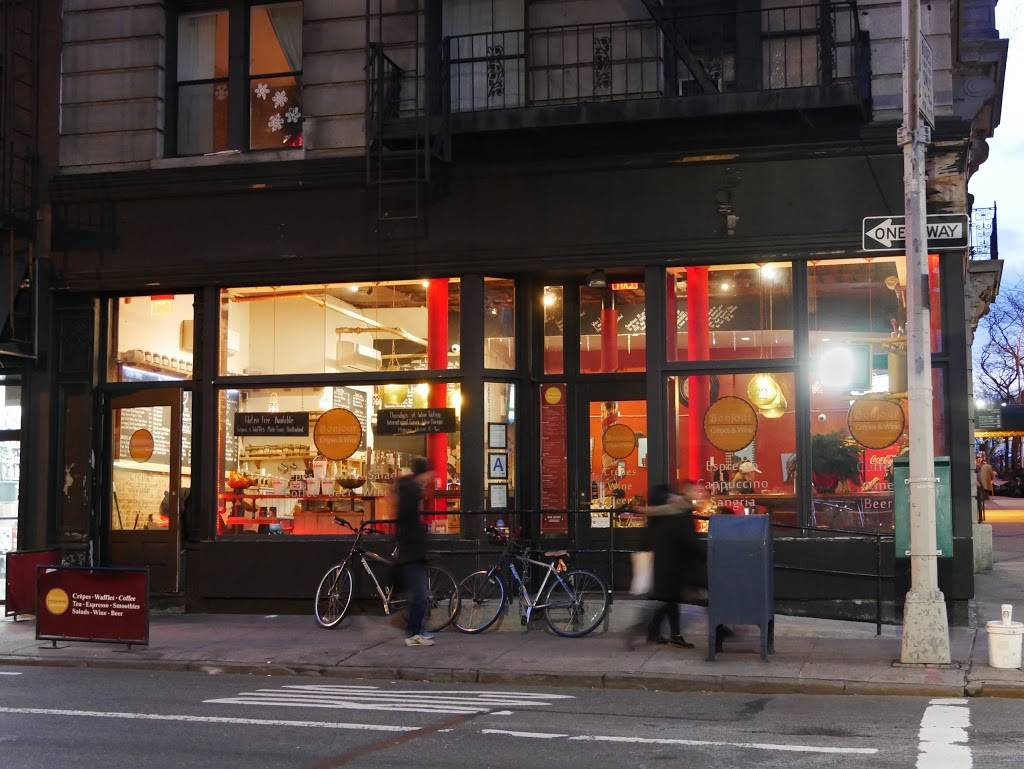 Bonjour Crepes & Wine | cafe | 1442 Lexington Ave, New York, NY 10128, USA | 2125344300 OR +1 212-534-4300