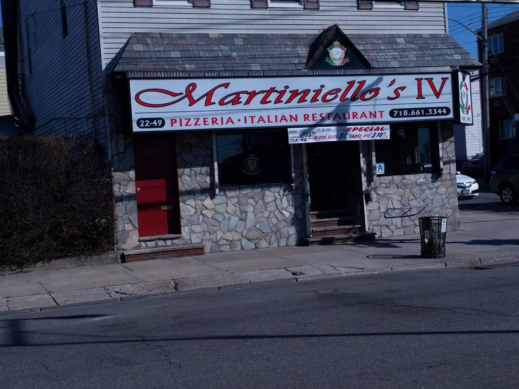 Martiniellos Pizzeria IV | meal delivery | 2533 2249 College Point Blvd, Flushing, NY 11356, USA | 7186613344 OR +1 718-661-3344
