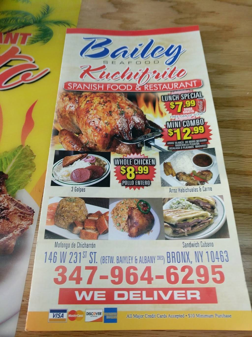 Bailey Sea Food   restaurant   146 W 231st St, Bronx, NY 10463, USA   3479646296 OR +1 347-964-6296