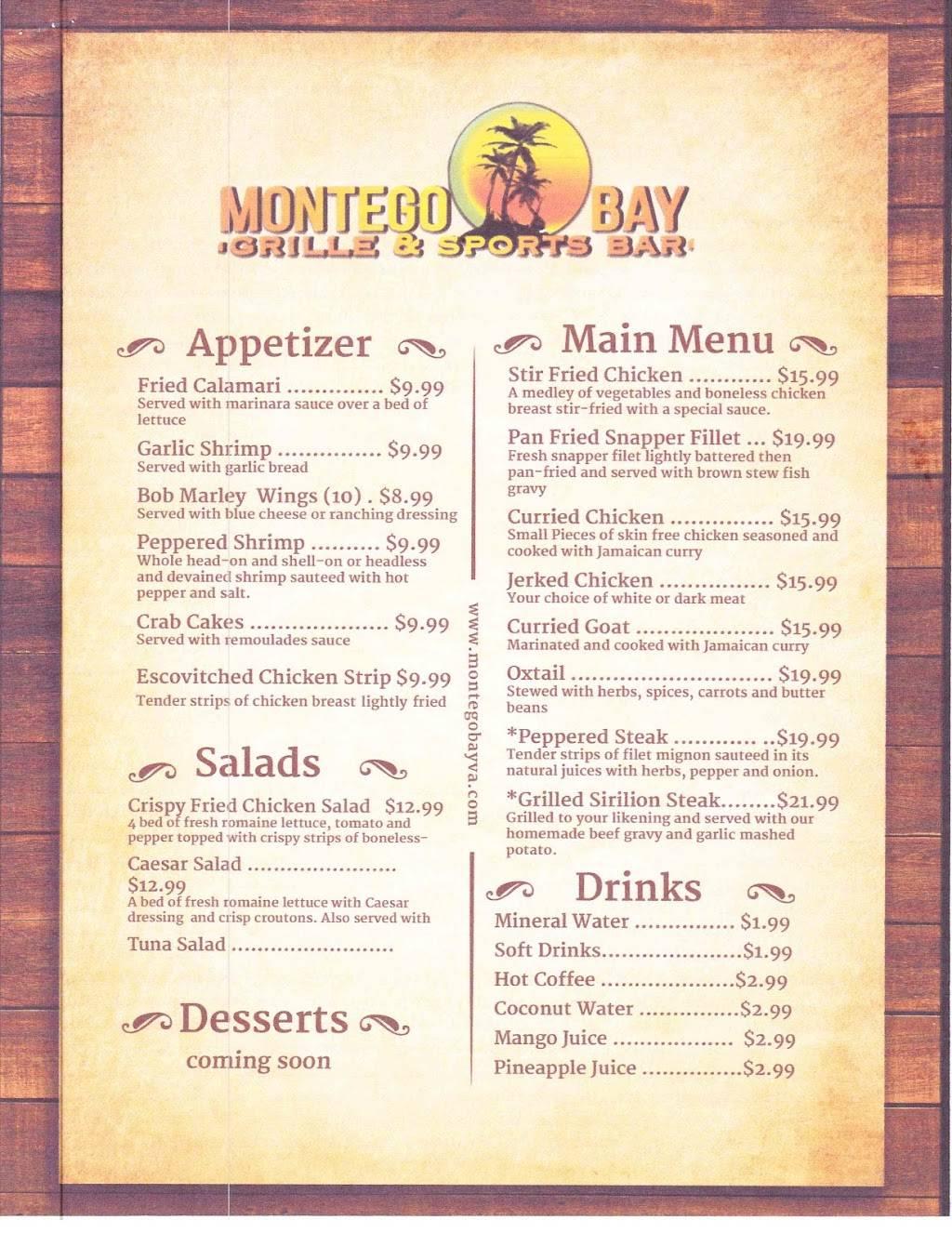 Montego Bay, Grille & Sports Bar | restaurant | 9915 Southpoint Pkwy, Fredericksburg, VA 22407, USA | 5712780045 OR +1 571-278-0045