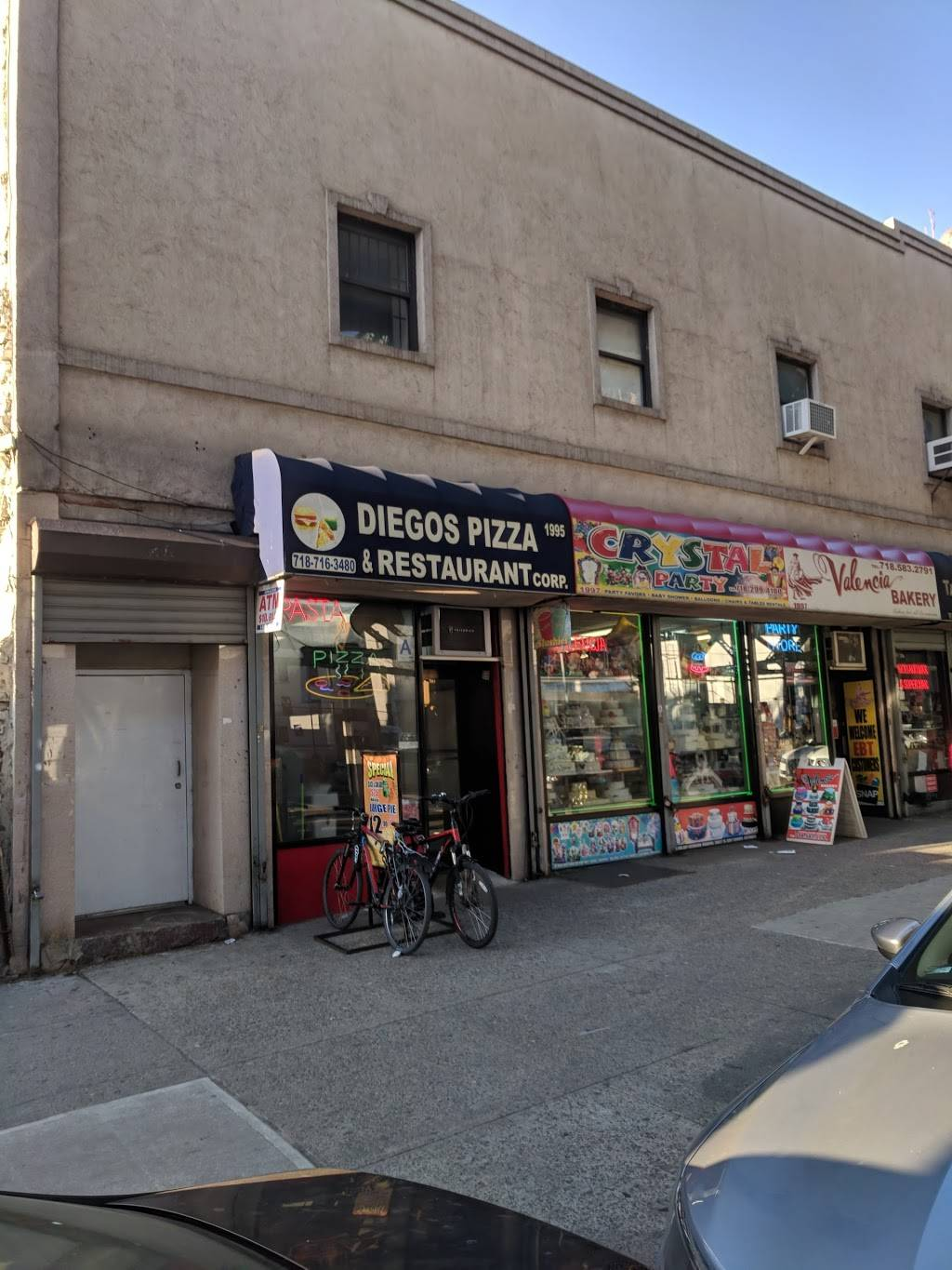Diegos Pizza | restaurant | 1995 Jerome Ave, Bronx, NY 10453, USA | 7187163480 OR +1 718-716-3480