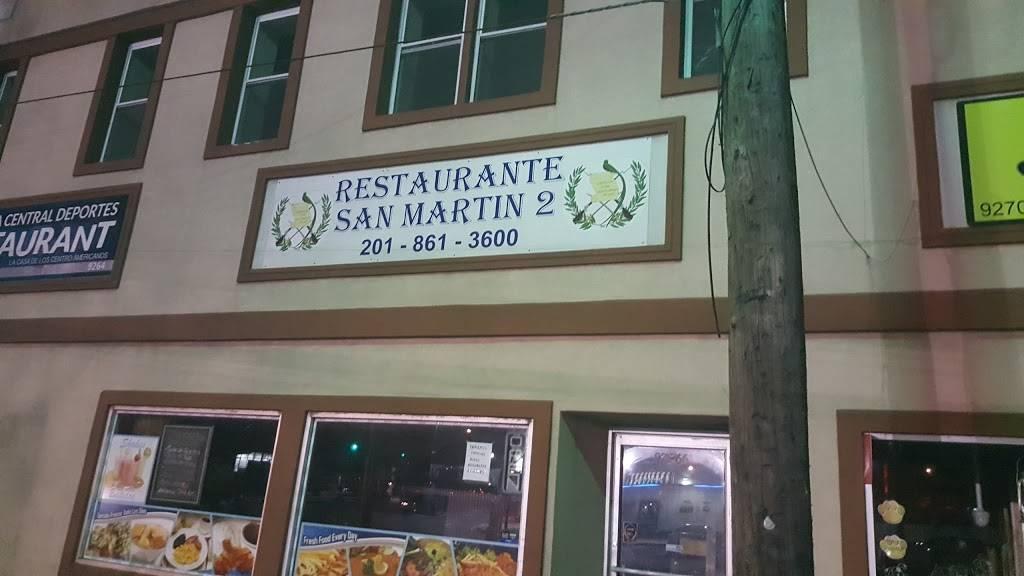 Restaurante San Martin 2 | restaurant | 9266 John F. Kennedy Blvd, North Bergen, NJ 07047, USA | 2018613600 OR +1 201-861-3600