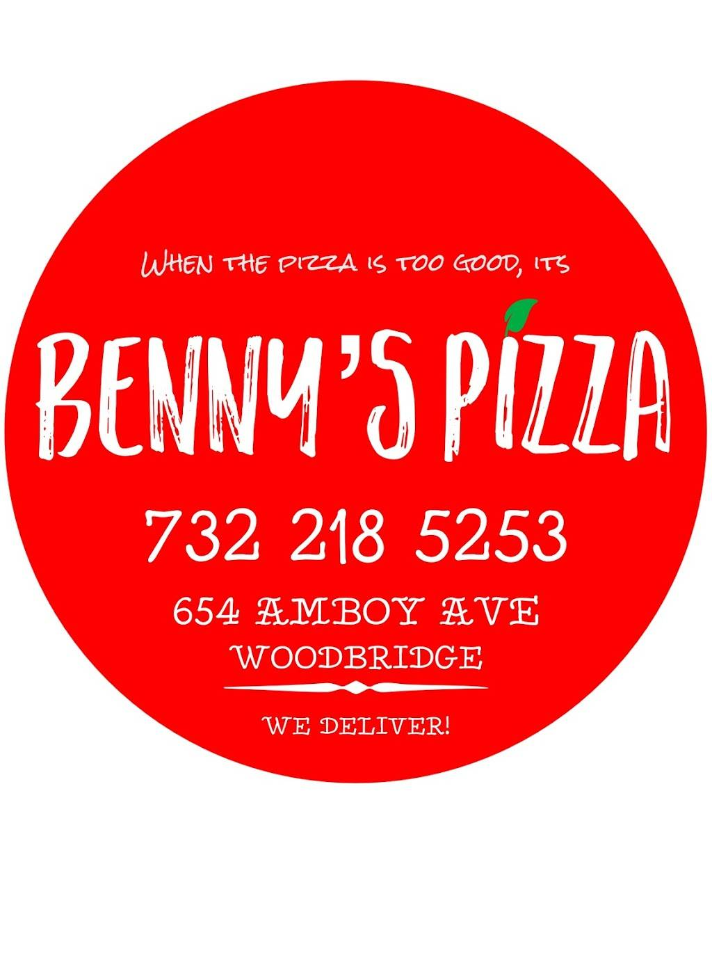 Bennys Pizza | meal delivery | 654 Amboy Ave, Woodbridge Township, NJ 07095, USA | 7322185253 OR +1 732-218-5253