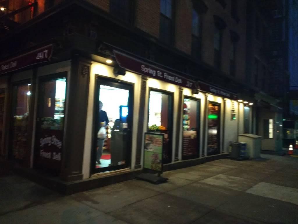 Spring Street Finest Deli | restaurant | 322 Spring St, New York, NY 10013, USA | 2123432335 OR +1 212-343-2335